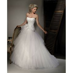 Ball+Gown+Wedding+Dresses | Tulle ball gown strapless wedding dresses online shopping hjwi - 2014 ...
