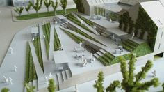 makieta Landscape Model, Landscape And Urbanism, Landscape Architecture Design, Architecture Drawings, Atrium Design, Plaza Design, Architecture Concept Diagram, Architecture Presentation Board, Architecture Courtyard