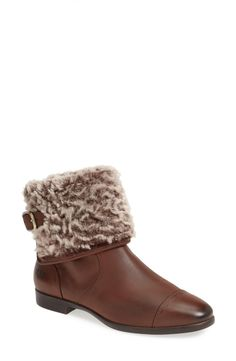 Pairing these chic wool cuff leather boots with a quilted jacket.