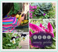 fall sensory gardening with kids