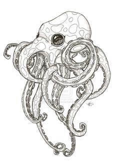 Octopus tattoo design although I don't really like the look I like the idea :)