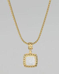 John Hardy Gold Pave Pendant - $4700