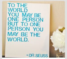 Dr Seuss! this would be good to put on frames or to frame for relay
