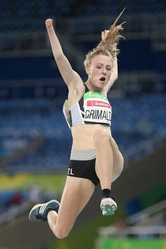 Anna Grimaldi of New Zealand competes in the women's long jump T47 on day 1 of the Rio 2016 Paralympic Games at  on September 8, 2016 in Rio de Janeiro, Brazil.