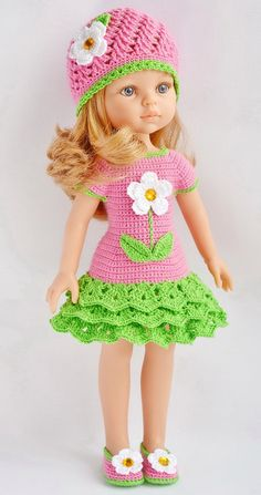 Most popular and beautiful Amigurumi Crochet Pattern Ideas Part amigurumi patterns free; Crochet Doll Dress, Crochet Doll Clothes, Knitted Dolls, Girl Doll Clothes, Doll Clothes Patterns, Barbie Clothes, Girl Dolls, American Girl Outfits, Ropa American Girl