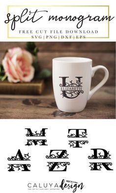 Free svg and jpeg initial alphabet wreath cut files – Artofit Cricut Air 2, Cricut Vinyl, Cricut Fonts, Svg Files For Cricut, Cricut Monogram Font, Free Svg Fonts, Monogram Maker, Shilouette Cameo, Free Monogram