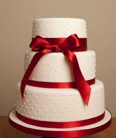 torta de bodas | Tartas de boda roja: Fotos de los mejores modelos (8/15) | Ella Hoy