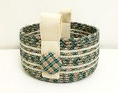 Items similar to Coiled Fabric Basket - Blue Willow on Etsy. , via Etsy.