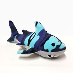 SHARK Plush Room Accessories Blue  Soft Ocean Animal by BUGODILE