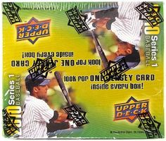 2010 Upper Deck Baseball 24-Pack Box by Upper Deck. $14.95. Look for (1) Jersey Card in EVERY BOX!! CONTENT HIGHLIGHTS: - Collect the Entire 600 Card Regular Set! - Look for Season Biography Cards, which capture day-by-day highlights from the 2009 season! - Look for a Memorabilia card in every box! - Look for 20th Anniversary Heroes Art Cards! PRODUCT BREAKDOWN 18 cards per pack/24 packs per box Regular Cards and Rookies - Base Set (600 cards) - Perfect for set collectors! Inse...