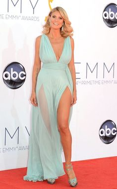 64th Annual Emmy Awards 2012, Heidi Klum wearing Alexandre Vauthier.