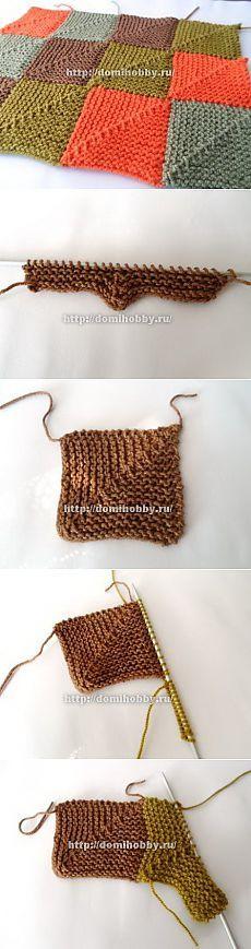 Техника вязания пэчворк спицами