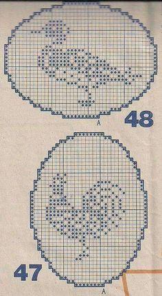 Crochet Birds, Crochet Circles, Easter Crochet, Crochet Cross, Thread Crochet, Crochet Stitches, Crochet Patterns Filet, Crochet Motif, Crochet Doilies
