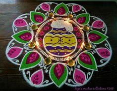 Rangoli Ideas, Rangoli Designs Diwali, Kolam Rangoli, Kolam Designs, New Year Rangoli, Beautiful Rangoli Designs, Floor Art, Simple Rangoli, Indian Festivals