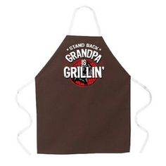 Imprints 2207 Grandpa is Grillin Apron - L. Imprints 2207 Grandpa is Grillin Apron - Funny Aprons, Cute Aprons, Best Gifts For Men, Gifts For Dad, Unique Gifts, Grandparent Gifts, Fathers Day Gifts, Cool Tech Gifts, Grill Apron
