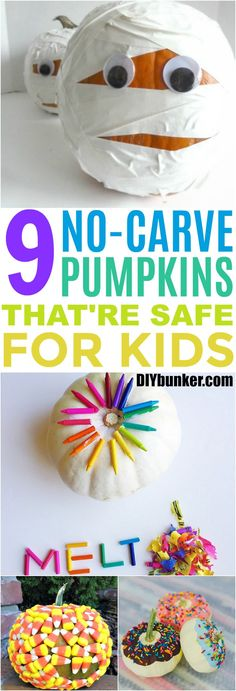 These 9 No-Carve Pumpkins Are Completely Safe For Kids And Clumsy Adults Alike! The designs are really creative and easy to do on a budget. Easy Pumpkin Carving, No Carve Pumpkin Decorating, Diy Pumpkin, Pumpkin Crafts, Chevron Pumpkin, Pumpkin Ideas, Fall Crafts For Adults, Easy Fall Crafts, Easy Crafts For Kids