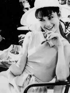 Always a Gentleman...Never a Saint — brightenedblueeyes: In the evenings, Audrey was...