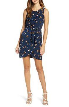 68626c3b1491 LEITH Designer Tie-Front Mini Dress Designer Ties