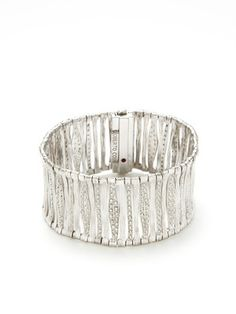 Roberto Coin  Elephantino Textured White Gold Bracelet  $19,000