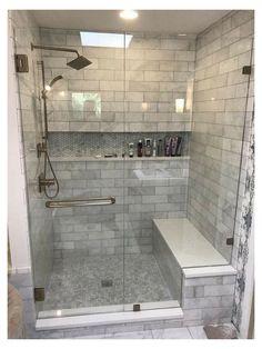 Master Bathroom Shower, Diy Bathroom Decor, Bathroom Design Small, Bathroom Interior Design, Bathroom Storage, Bathroom Organization, Bathroom Cabinets, Bathroom Mirrors, Small Bathrooms