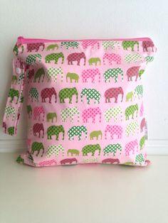 Wet Bag Urban Elephants in pink by LilTotWonder on Etsy, $18.00