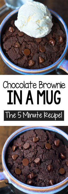 Brownie recipes 74309462587798580 - How To Make A Chocolate Brownie In A Mug, the five minute recipe! Completely vegan recipe and super easy Source by choccoveredkt Easy Chocolate Mug Cake, Chocolate Mug Brownies, Brownies Keto, Beste Brownies, Chocolate Recipes, Delicious Chocolate, Boxed Brownies, Chewy Brownies, Caramel Brownies
