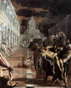 "renaissance-art: "" Tintoretto c. 1562-1566 Stealing of the Body of Saint Mark """