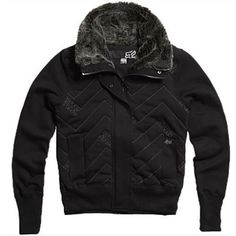 FOX RACING COMPRESSOR WOMANS JACKET BLACK MD by Fox Casuals. $68.79. You can't go wrong with the Fox Compressor Jacket. The perfect blend of warmth and style, this quilted jacket even features a faux fur neck- you can't help but look amazing this one! Faux fur at neck Fox Head logo zipper pull Welt pockets 23'' Body Length Shell: 60% cotton 40% Polyester Fleece Lining: 60% Cotton 40% Polyester Jersey. Save 13% Off!