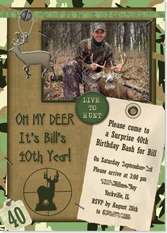 Hunting Party invitations