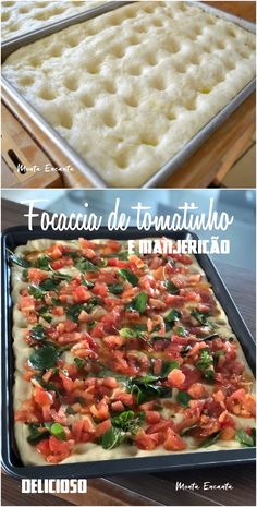 Tomato and basil focaccia in the mixer! Comida Siciliana, Easy Cooking, Cooking Recipes, Vegetarian Recipes, Healthy Recipes, Snacks Für Party, Food Platters, Bruschetta, Quick Meals