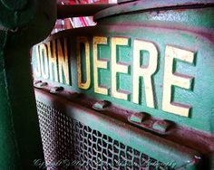 John Deere Tractor Photo...this summer start taking some like this for Isaac's room.