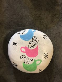 Pebble Painting, Dot Painting, Pebble Art, Stone Painting, Stone Crafts, Rock Crafts, Arts And Crafts, Diy Crafts, Painted Rocks
