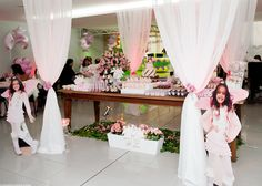 Angel-birthday-party-: the sweets table