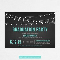 24 HOUR TURNAROUND - Graduation Invitation (Lucas) / Graduation Photo Invitation