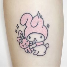 Uploaded by etherealic. Find images and videos about aesthetic, tattoo and kawaii on We Heart It - the app to get lost in what you love. Cute Thigh Tattoos, Baby Tattoos, Dream Tattoos, Pretty Tattoos, Mini Tattoos, Cute Tattoos, Small Tattoos, Tatoos, Sanrio