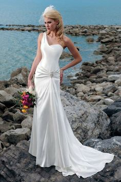 beach wedding dress,love this style