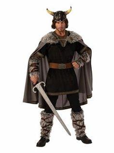 Mens Adult Viking Medieval Saxon Warrior Fancy Dress Costume 76 cm Skull Axe