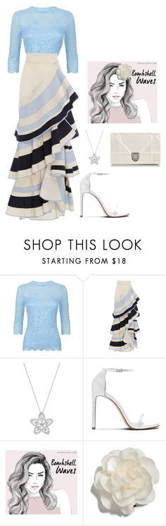 """Sixth day on Spain."" by mprocedi on Polyvore featuring moda, Damsel in a Dress, Johanna Ortiz, Stuart Weitzman, Cara e Christian Dior"