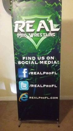 "Real Pro Wrestling uses eSigns.com for their vinyl banners! ""Huge thank you to eSigns.com for their amazing work on our show banners. We will be posting more from our events for you to see."" -Kim A."