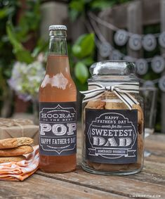 Printable Father's Day Labels in Chalkboard Style