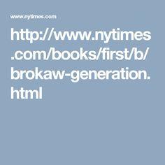 The Greatest Generation ~ By TOM BROKAW  ~ Random House