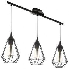 Suspension 3 Lampes Tarbes EGLO 94189 Noire