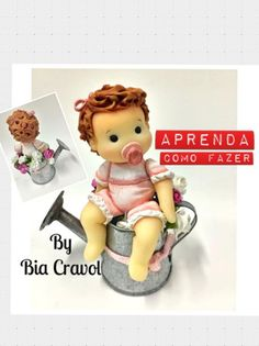 DIY- Bebe Fofura - biscuit + porcelana fria + biscuit para iniciantes + ...