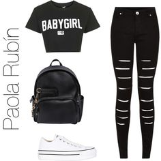 Untitled #79 by pao-xox on Polyvore featuring polyvore fashion style Illustrated People Converse Dsquared2