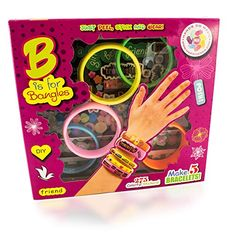Create Your Own Bracelets Kit by MazicHands | Best Arts and Crafts Kit For Little Girls | DIY Bling Bangle Bracelets - Includes Colorful Rubber Band Bracelets and Sparkling Jewel Stickers * Want additional info? Click on the image.