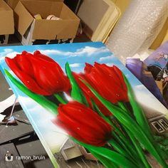 Beautiful piece from @ramon_bruin  TAG A FRIEND WHO WOULD LIKE THIS  And don't forget to follow @ramon_bruin  Custom tulip painting   #art #artist #arte #design #drawing #dtaw #dibujo #instaart #creative #sketch #sketching #doodle #doodles #doodleart #doodling #abstract #mandala #madalaart #zenart #zentangle #zentangles #zentangleart #patterns