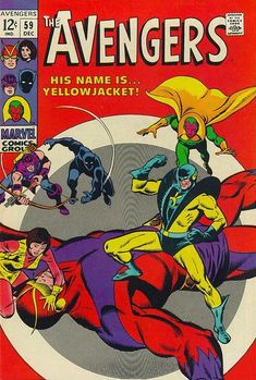 The Avengers #59 (1963 series) - cover by John Buscema