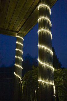 led lichtslang warmwit 6 meter stekker klaar buiten kerstversiering kerstverlichting kerstbomen buitenverlichting