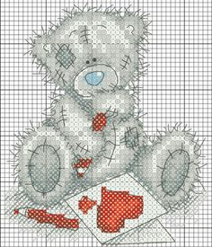 Thrilling Designing Your Own Cross Stitch Embroidery Patterns Ideas. Exhilarating Designing Your Own Cross Stitch Embroidery Patterns Ideas. Cross Stitch For Kids, Cross Stitch Love, Cross Stitch Animals, Cross Stitch Charts, Cross Stitch Designs, Cross Stitch Patterns, Tatty Teddy, Cross Stitching, Cross Stitch Embroidery