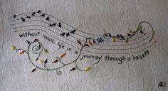 fleurs musicales embroidery